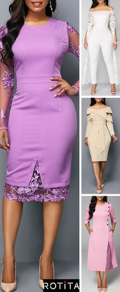 Girs, if you are invited to a spring wedding and are puzzling what to wear, we've got a whole pile of awesome ideas for you! It's a spring affair, so forget black and pay attention to brights: purple, pink and white. African Fashion Dresses, African Dress, Fashion Outfits, Womens Fashion, Fashion Skirts, Sunday Outfits, Spring Outfits, Balkon Design, Fashion And Beauty Tips