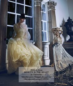 High Fashion Disney Princesses  Belle from Beauty & the Beast by Valentino