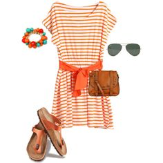 """orange"" by sandrapereiranielsen on Polyvore"