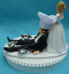 Hey, I found this really awesome Etsy listing at https://www.etsy.com/listing/191649543/wedding-cake-topper-chef-cooking