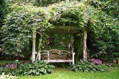 And no secret garden would be complete without a leafy bower with a seat inside.