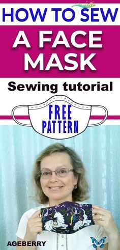 How to sew a face mask from fabric plus a free printable mask pattern  <br> This is a video sewing tutorial on how to sew a face mask from fabric. You will find a free sewing pattern for your own face mask. The DIY face mask is an easy sewing project even for beginners. Easy Sewing Projects, Sewing Projects For Beginners, Sewing Tutorials, Sewing Hacks, Sewing Tips, Tutorial Sewing, Diy And Crafts Sewing, Hair Tutorials, Sewing Ideas