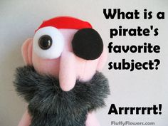 cute & clean Pirate kids joke for children featuring an adorable bald Buck Naked Buccaneer boy doll with a bushy mustache & beard :)