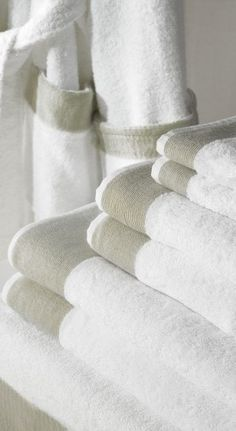 New fluffy white towels