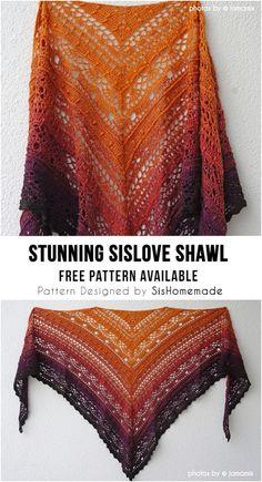 Plaid Au Crochet, Blog Crochet, Crochet Shawl Free, Crochet Shawls And Wraps, Crochet Scarves, Crochet Crafts, Crochet Lace, Crochet Stitches, Lace Shawls