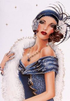 Clintons Art Nouveau Lady birthday card                              …
