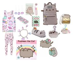 """""""Back To School Pusheen"""" by athenaawesomeness ❤ liked on Polyvore featuring Pusheen"""