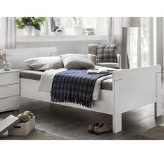 Furniture In Fashion Newport Wooden Single Bed In Alpine White Headboard Shapes, Thing 1, Beds For Sale, Under Bed, Mattress Covers, White Furniture, Bed Storage, Types Of Wood, Bed Frame