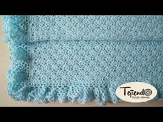 Manta, toquilla para bebé tejida a ganchillo - YouTube