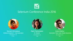 """This is our first year in the """"Selenium Conference India 2016"""" in Bangalore - the schedule is published and available at: http://2016.seleniumconf.in/; 3 speakers from QA InfoTech will be there covering a range of topics from test prioritization to leveraging functional test scripts for accessibility and security testing - if you happen to be there, do join in on their sessions!  Rajini Padmanaban, Sarvesh Srivastava and Anshul Mathur - good luck with your talks!"""