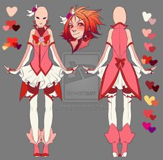 Cure Rouge - Grown-up Design by rika-dono.deviantart.com on @DeviantArt