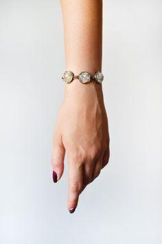 Bracelets – Rose quartz bracelet, raw quartz bracelet – a unique product by tinymountains on DaWanda