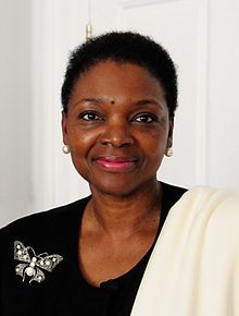 LADY VALERIE AMOS,Baroness Amos, Leader of British House of Lords,1st Black Woman Cabinet Minister & 1st Black Woman Peer appointed Leader of the House of Lords,only 3rd WOMAN to LEAD House of Parliament.One of 3 Black British Peers in the House of Lords.Served as British Sec, of State for Intl, Development for U,K, Baroness Amos is British high commissioner to Australia & will replace Sir John Holmes as UN under-sec.general for Humanitarian Affairs/Emergency Relief for Britain.Biddy Craft