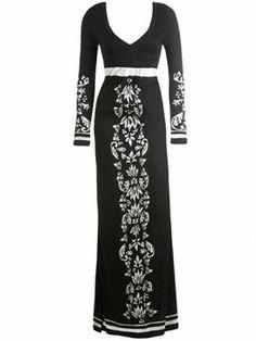 Presley Skye Jersey Long Sleeve Maxi Dress | Long Dresses