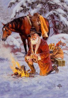 cowboy+santa | Uploaded to Pinterest