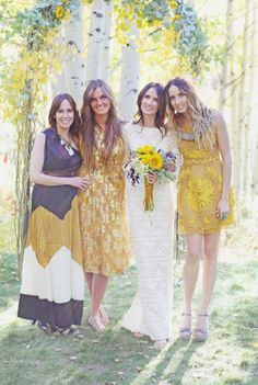 Festival style bridesmaids