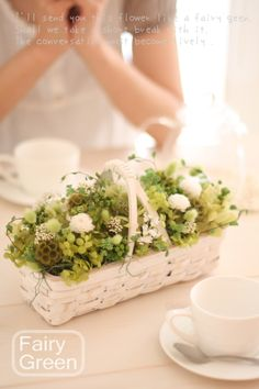 Fairy green centerpieces