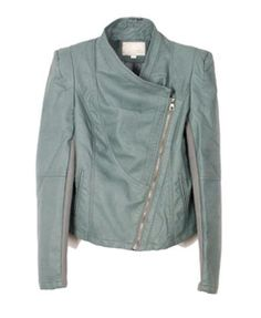 Retro Leather Jackets with Slanted Zipper where can I get this? not too expensive please haha