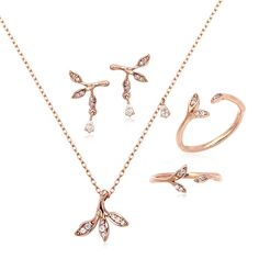 14K GOLD JEWELRY SET (58.5% GOLD) LPJ6549 SET. LA LUCE - PRIMARY JEWELRY