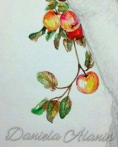 Manzanas (detalle) #art #arte #artista #artistoninstagram #artist #illustration