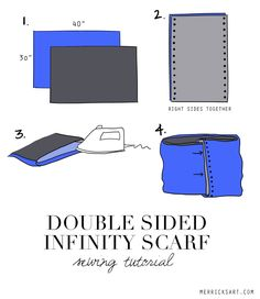 Merrick's Art // Style + Sewing for the Everyday Girl: HANDMADE HOLIDAYS: DOUBLE SIDED INFINITY SCARF (+ A GIVEAWAY!)