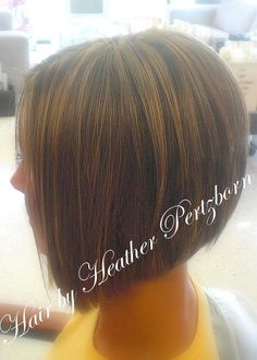 Angle Forward Hair Stacked in Back, A Line Haircut Victoria Beckham Highlights Volume