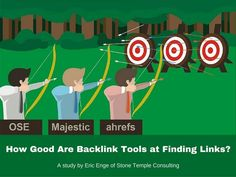 Summary of a Stone Temple Consulting study of the effectiveness of three major backlink discovery tools (Moz Open Site Explorer, Majestic, and ahrefs) at findi…