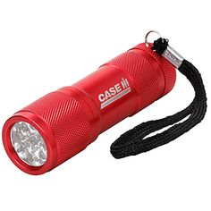 9 LED Flashlight | ShopCaseIH.com. Perfect for the glove compartment, tool box, purse or desk drawer, this powerful little dynamo – proudly engraved with the Case IH logo – features 9 super-bright LEDs in a heavy-duty, compact housing. Powered by 3 AAA alkaline batteries (included), these LEDs last 100,000 hours, emitting a pure white light. Expected battery life is 20 hours.