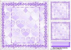 Purple floral and lace frame 8x8 with toppers by Nick Bowley Purple floral and lace frame 8x8 with toppers and tag, lovely for your cards, can also be seen in other colours