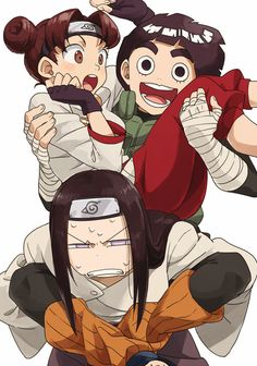 TenTen, Rock Lee, and Neji Hyuga