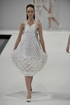 Sculptural Knitwear with beautiful textures and construction // Amber Hards, knitwear fashion designer