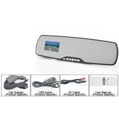 Bluetooth HD Car DVR Rearview Mirror - 2.7 Inch, 1080P Video, Motion Detection