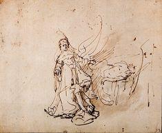 Rembrandt Harmensz. van Rijn: Holofernes' hoofd gaat in de zak