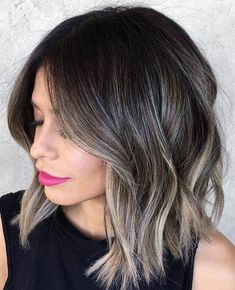 If you are a brunette, try subtle ash blonde highlights to give you that chic ombre effect #ashblonde #hairstyle #highlights #haircolor
