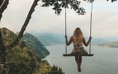 The best view in Bali! Porch Swing, Footprint, Nice View, Bali, Leaves, Earth, India, Photo And Video, Outdoor Decor