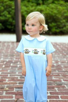 Smocked Puppy Dogs   Castles and Crowns Fall/Winter 2012  www.castlesandcrowns.com/r/meredithunderwood