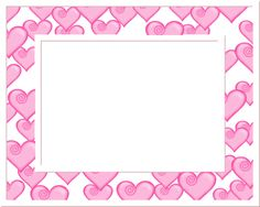 Frame   Free Pink and White Heart Frame Valentine's Day Graphic - Transparent ...