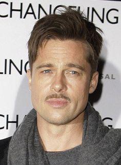 #Moustache #brad #pit