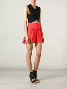 MSGM - bow detail shorts