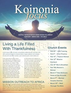 free church newsletter template communication resources online