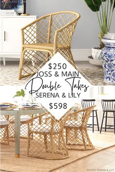 Anthropologie Furniture, Modern Traditional Decor, Rattan Dining Chairs, Dining Room, Classic Lanterns, Beach House Kitchens, Luxury Decor, Decorating On A Budget, Home Decor Inspiration