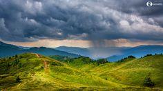 Rain spot - Rain over the Cheia village in Ciucas mountain, Romania