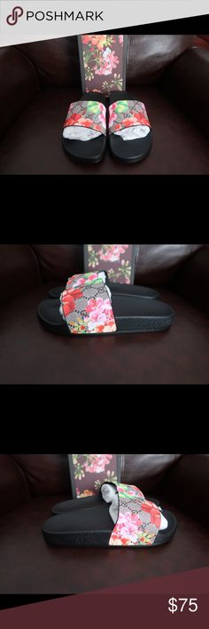 4cdc9e6fed6e4 Gucci GG Blooms Supreme Slide Sandal Brand New Never Worn. Size Europe 36.  Size US 6W Gucci Shoes Slippers