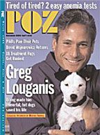 POZ Magazine March 1999 featuring Greg Louganis