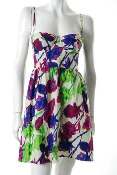 9c4f059b7a38f Moda International ~ Floral Corset Dress 12  38 on eBay not for work  Babydoll Dress,