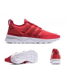 23f6e04272c5f Womens Adidas Originals ZX Flux ADV Verve Lush Red Trainer Adidas Originals Zx  Flux