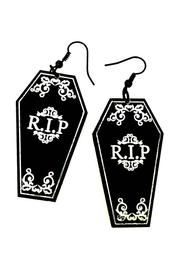 Coffin Gothic Earrings by Curiology and other apparel, accessories and trends. Browse and shop 8 related looks. Gothic Earrings, Goth Jewelry, Gothic Jewellery, Gothic Accessories, Jewelry Accessories, Mode Steampunk, Nickel Free Earrings, Engraved Jewelry, Cute Earrings