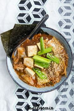 Kimchi soup - Do it Yourself & More! Veg Recipes, Asian Recipes, Vegetarian Recipes, Healthy Recipes, Ethnic Recipes, Mad Cook, Kimchi, Diet Tips, Tofu