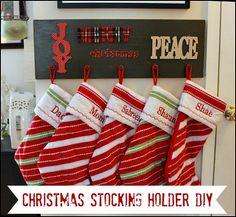 Christmas Stocking Holder DIY #pcholiday #ad