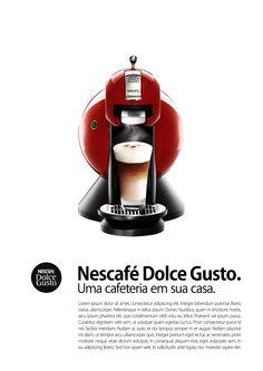 Anúncio Nescafé Dolce Gusto - Adobe Photoshop | Aprimorando técnicas de layout como grid, linhas de base para tipografia e composição.